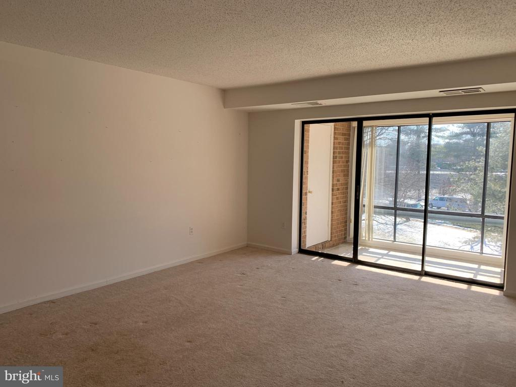 Living Room  with Enclosed Patio - 10222 BUSHMAN DR #8123, OAKTON