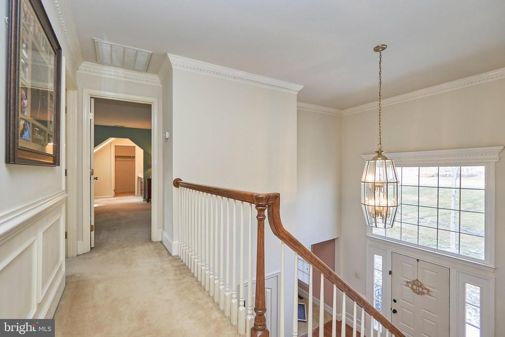 Upper Level Hallway with Moldings - 12693 CROSSBOW DR, MANASSAS