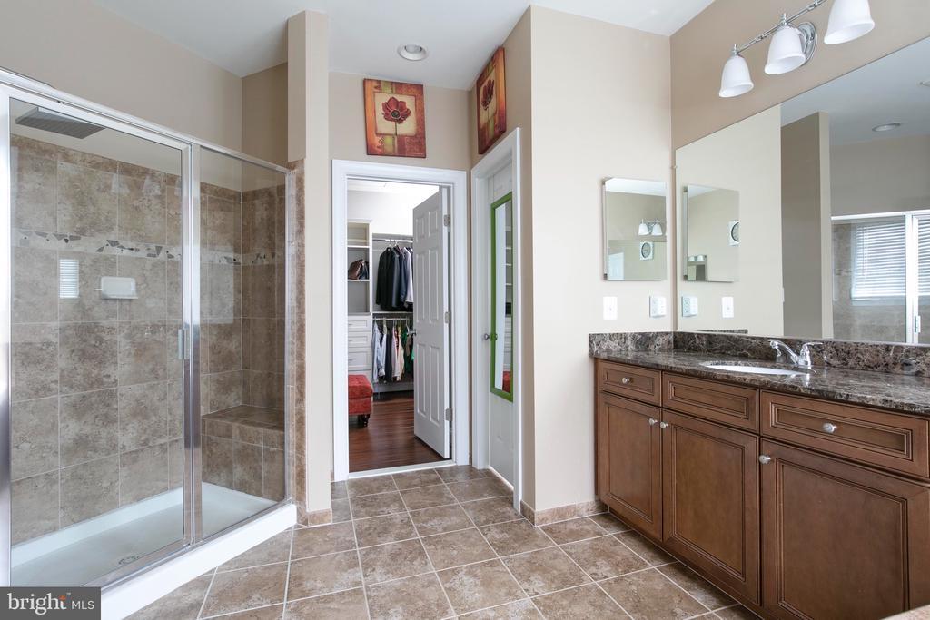 Shower & walk in closet also  in owner's bathroom - 21382 FAIRHUNT DR, ASHBURN