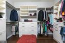 One of three custom closet in owner's suite - 21382 FAIRHUNT DR, ASHBURN