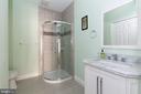 Unique 4th full bathroom in the basement - 21382 FAIRHUNT DR, ASHBURN