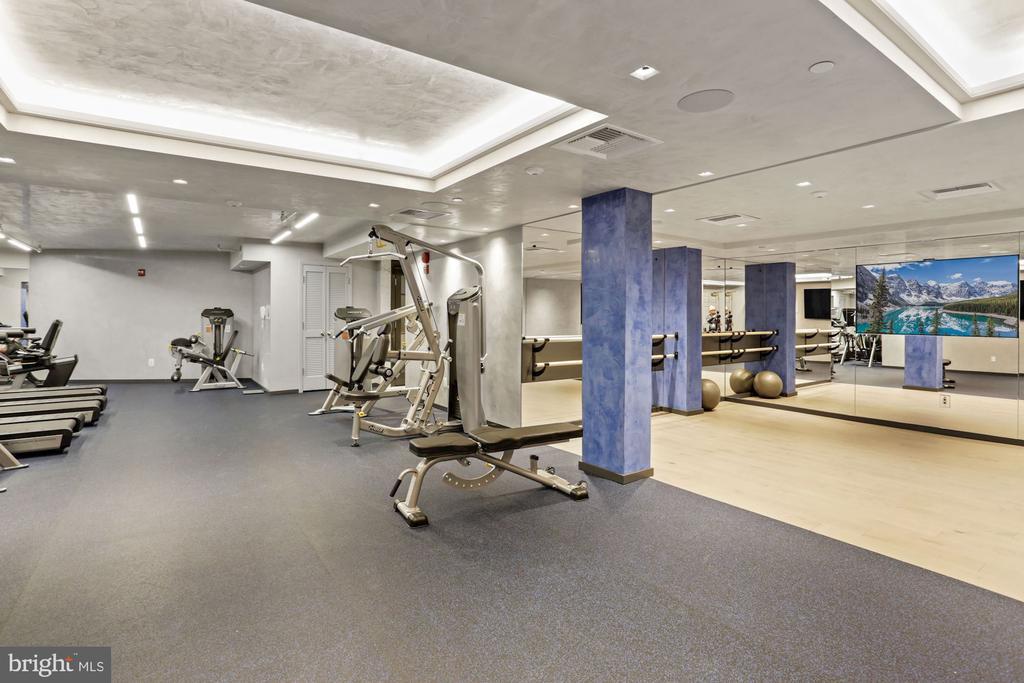 Gym w/ballet barre + mirror training system - 801 PENNSYLVANIA AVE NW #1026, WASHINGTON