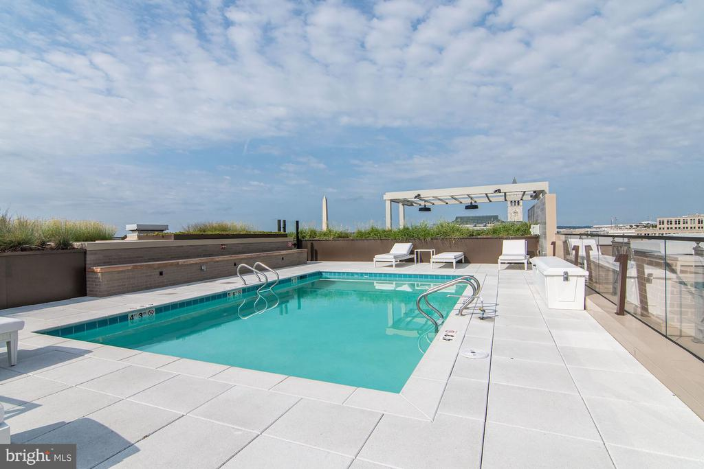 Rooftop pool w/grilling area - 801 PENNSYLVANIA AVE NW #1026, WASHINGTON