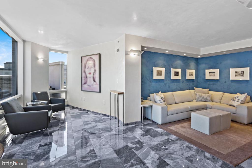Imported French marble flooring - 801 PENNSYLVANIA AVE NW #1026, WASHINGTON