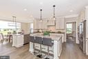 Kitchen with optional Enlarged Island - 6625 ACCIPITER DR, NEW MARKET
