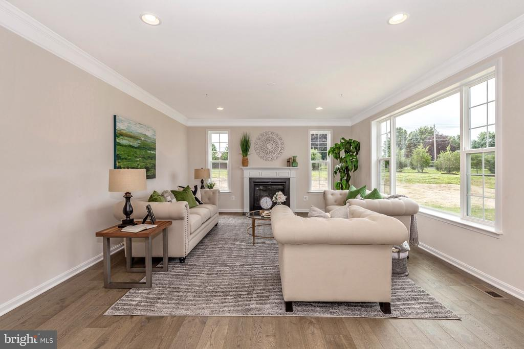 Family Room with included Fireplace - 6625 ACCIPITER DR, NEW MARKET