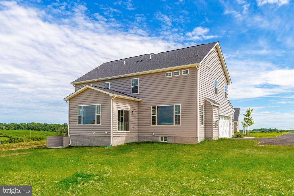 Rear Elevation with optional Morning Room - 6625 ACCIPITER DR, NEW MARKET