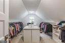 Huge walk in closet with center island - 5615 PICKWICK RD, CENTREVILLE