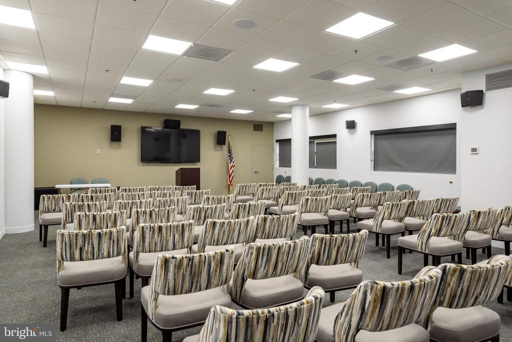 Movie/Meeting Room in LW Clubhouse - 19365 CYPRESS RIDGE TER #707, LEESBURG