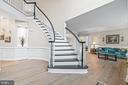 Grand front staircase - 12802 GLENDALE CT, FREDERICKSBURG