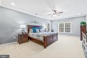 Large master bedroom - 12802 GLENDALE CT, FREDERICKSBURG