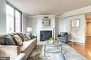 Living room - 1201 N GARFIELD ST #909, ARLINGTON