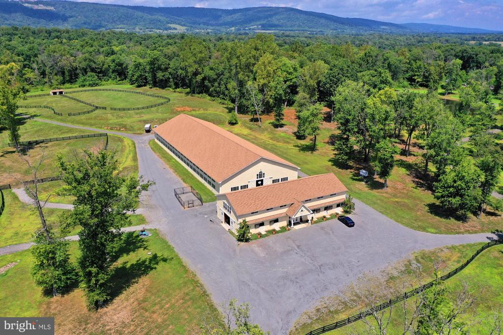 View of 8 Stall Show Barn and Indoor Arena - 21281 BELLE GREY LN, UPPERVILLE