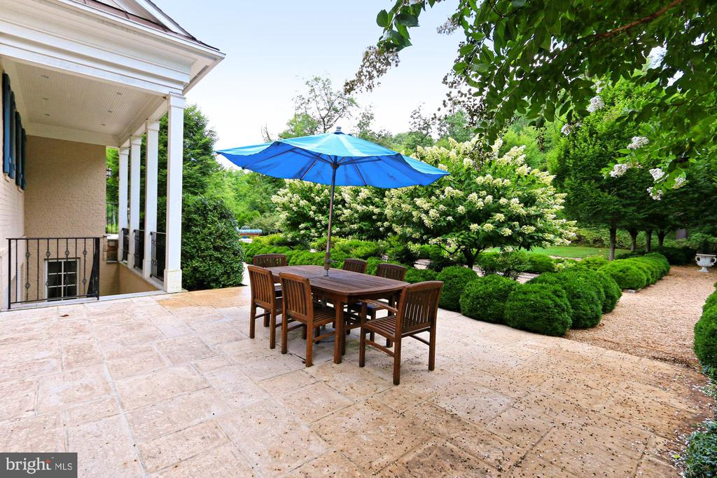 Side Patio leading to Lower Level @ Main Residence - 21281 BELLE GREY LN, UPPERVILLE