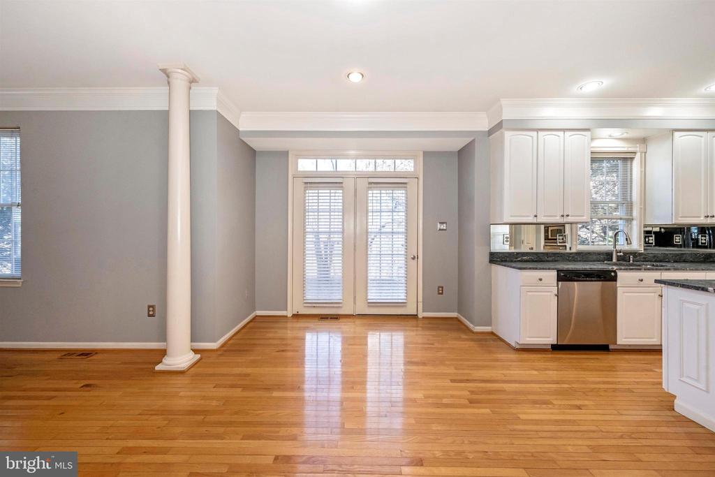 From front hallway to backdoor - 6923 BARON CT, FREDERICK