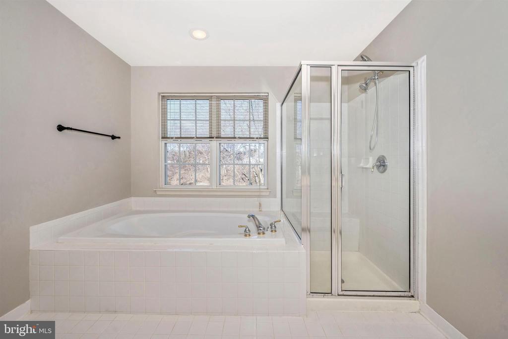 Master Bath soaking tub and shower - 6923 BARON CT, FREDERICK