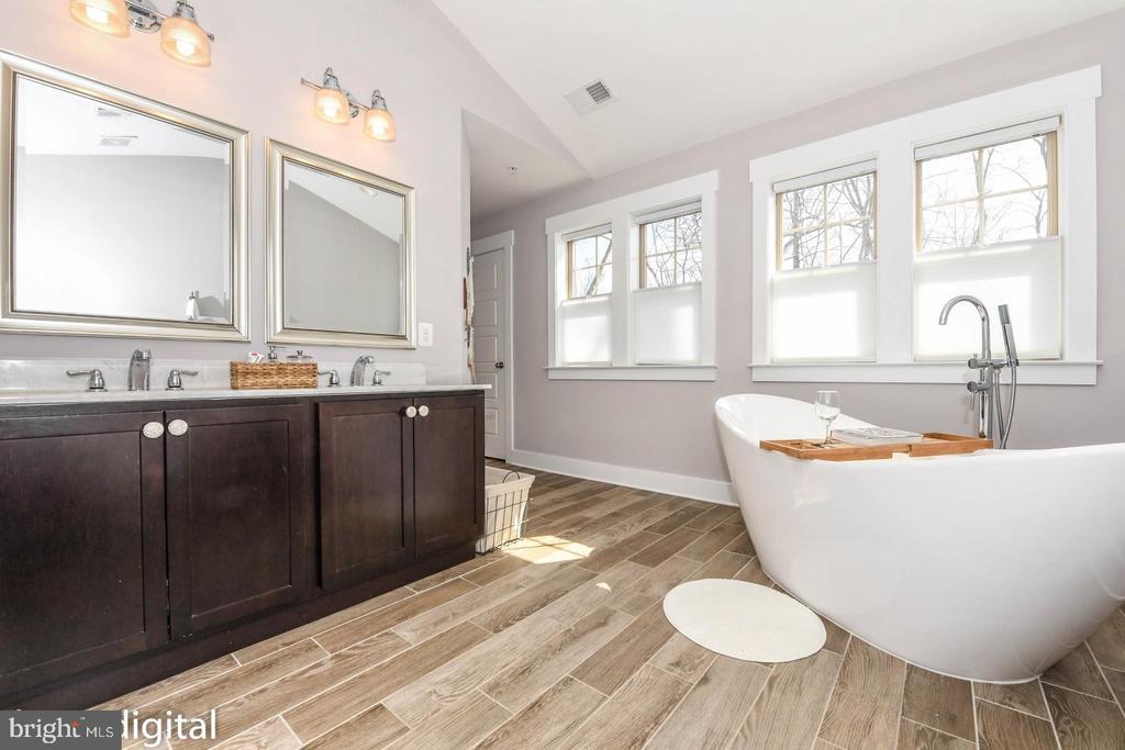 Luxurious primary bath w/ soaking tub. - 6720 OAKRIDGE RD, NEW MARKET