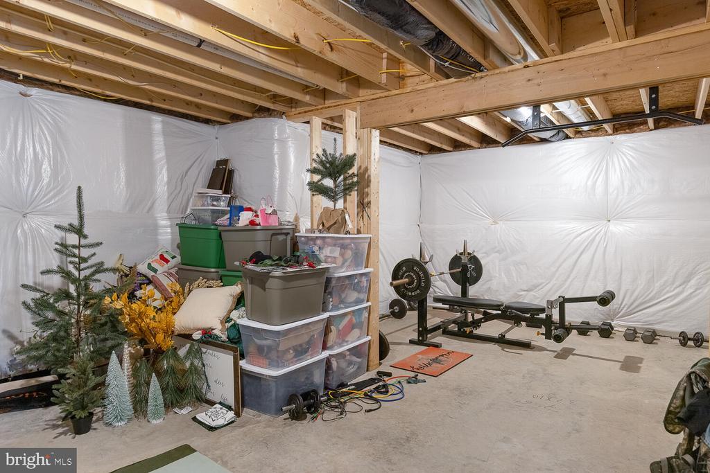 Unfinished basement area - 151 WOOD LANDING RD, FREDERICKSBURG