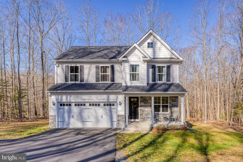 Surrounded by trees. - 151 WOOD LANDING RD, FREDERICKSBURG