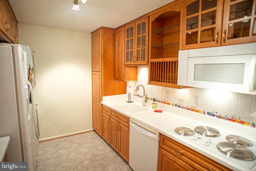 Galley Kitchen -- Cabinets on both sides - 203 YOAKUM PKWY #317, ALEXANDRIA