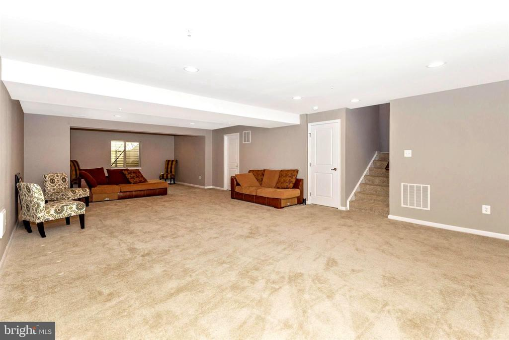 Large finished area in lower level - 8714 PRESTON DR, FREDERICK
