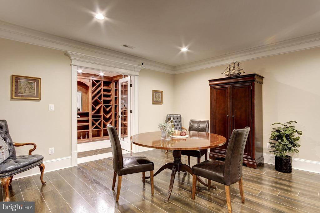 Lower Level Wine Tasting Area - 119 CLARKS RUN RD, GREAT FALLS