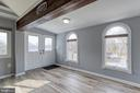 French doors leading to the front steps - 9011 BACKLICK RD, FORT BELVOIR
