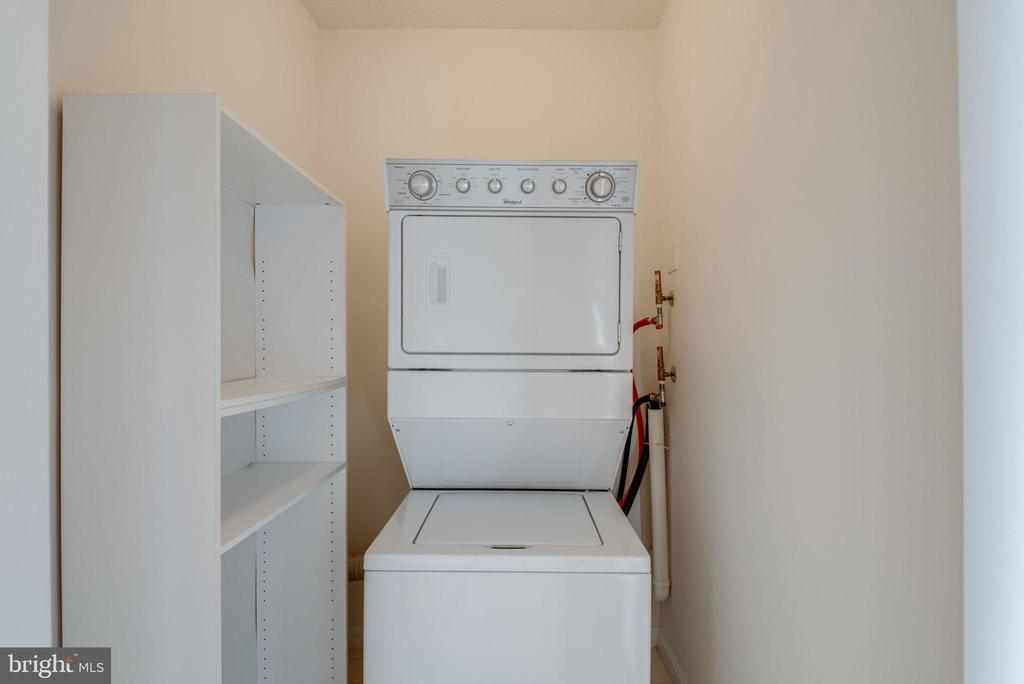 Laundry room has space for storage - 19365 CYPRESS RIDGE TER #1007, LEESBURG