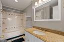 Upper level Full bath En suite to 1st Bedroom - 6703 WASHINGTON BLVD #F, ARLINGTON
