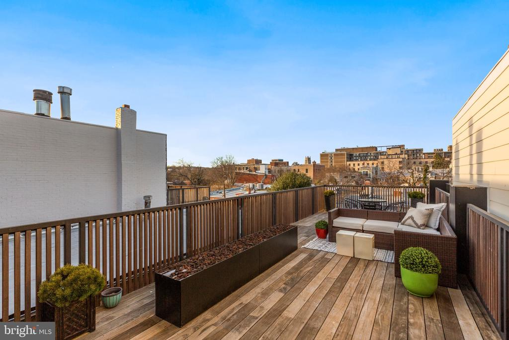 Rooftop patio / Gas fireplace - 2127 N ST NW, WASHINGTON