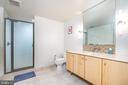 The bathroom is huge and has a shower stall - 1025 1ST ST SE #801, WASHINGTON