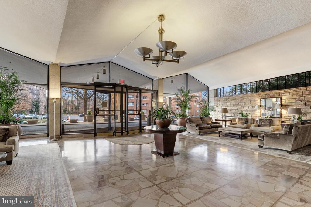 Building Lobby - recently renovated - 1200 N NASH #544, ARLINGTON