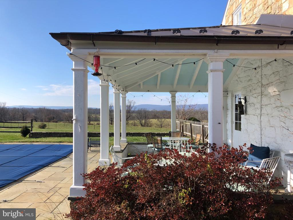 View from the covered porch - 21943 ST LOUIS RD, MIDDLEBURG