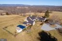 Aerial view of the main house - 21943 ST LOUIS RD, MIDDLEBURG