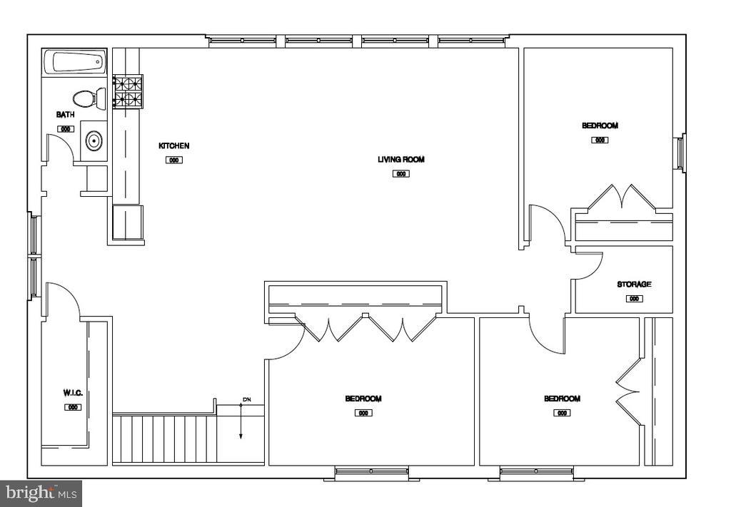 Guest house floor plan with bedrooms - 8548-A GEORGETOWN PIKE, MCLEAN