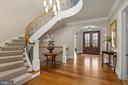 Foyer with Curved Staircase - 825 CLINTON PL, MCLEAN