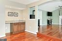 Primary Bedroom with convenient wet bar - 6302 KNOLLS POND LN, FAIRFAX STATION
