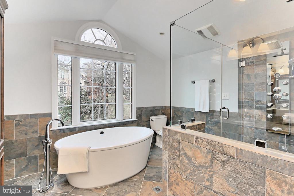 Beautiful w/ a soaking tube spa-inspired shower - 6302 KNOLLS POND LN, FAIRFAX STATION