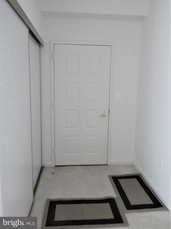 A vacant view of Foyer with closet on Right - 19365 CYPRESS RIDGE TER #416, LEESBURG