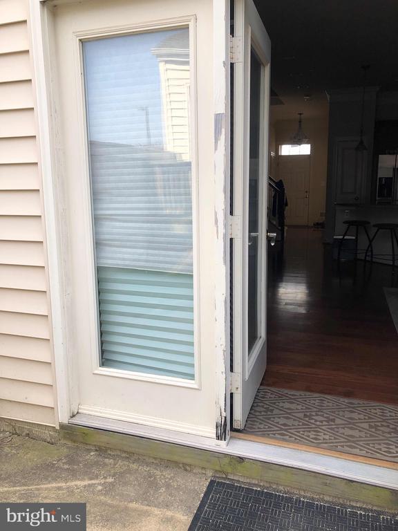 Back door - 23600 BENNETT CHASE DR, CLARKSBURG