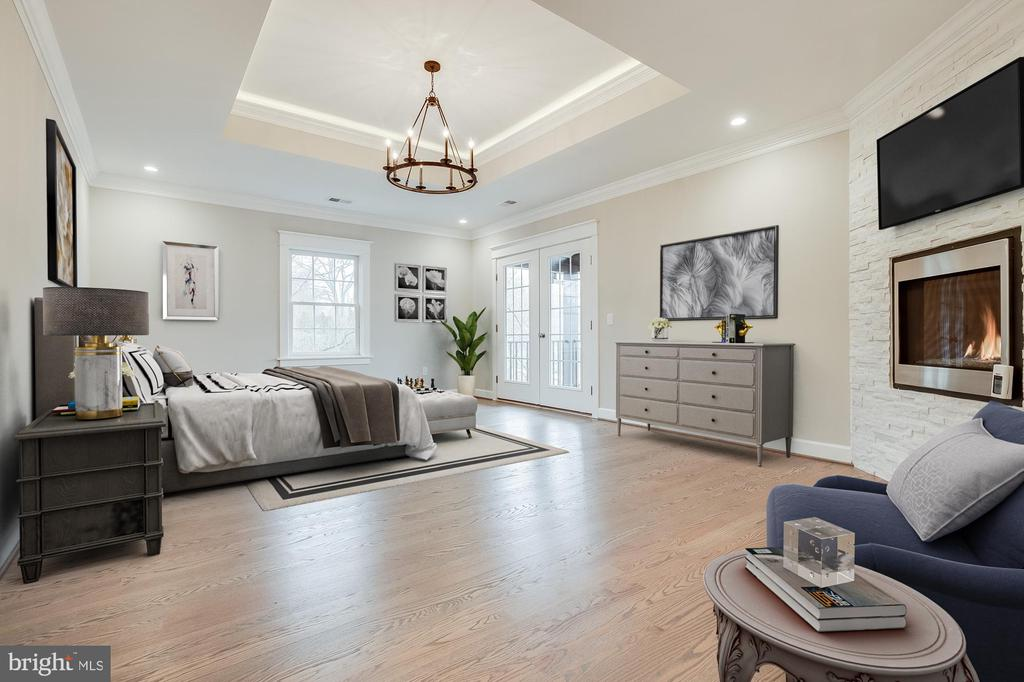 Master Bedroom to Balcony - 6723 VALLEY BROOK DR, FALLS CHURCH