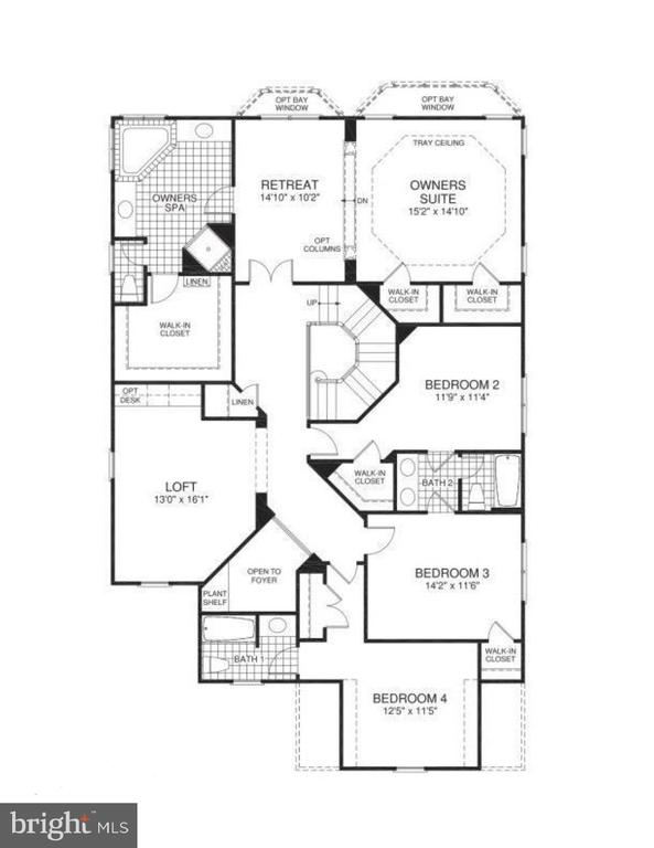 Floor plan upper level - 21382 FAIRHUNT DR, ASHBURN