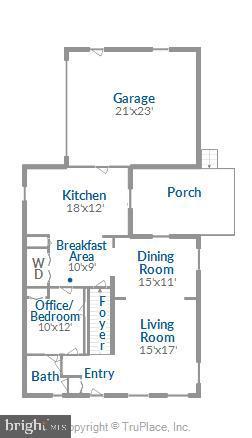 Main Level Floorplan - 2129 GREENWICH ST, FALLS CHURCH