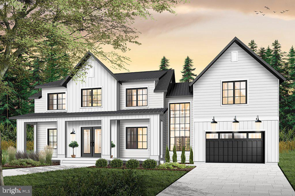 Artist's rendering shows covered front porch - 18080 CANBY RD, LEESBURG