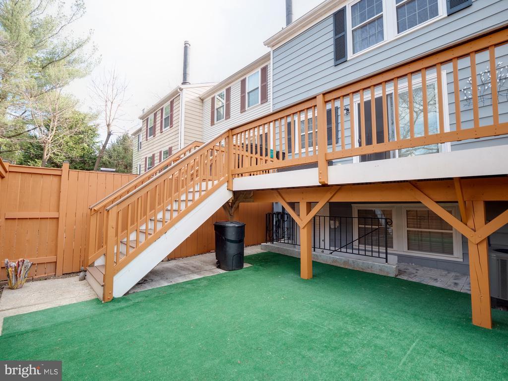 Rear patio - 1677 BAYFIELD WAY, RESTON