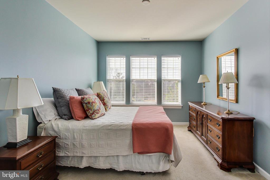 Bedroom windows overlook treed area - 20570 HOPE SPRING TER #204, ASHBURN