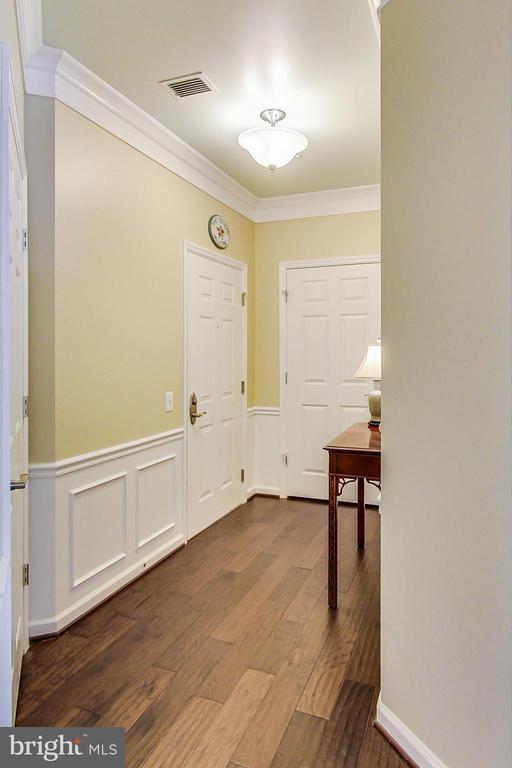 Entry Foyer coat closet - 20570 HOPE SPRING TER #204, ASHBURN
