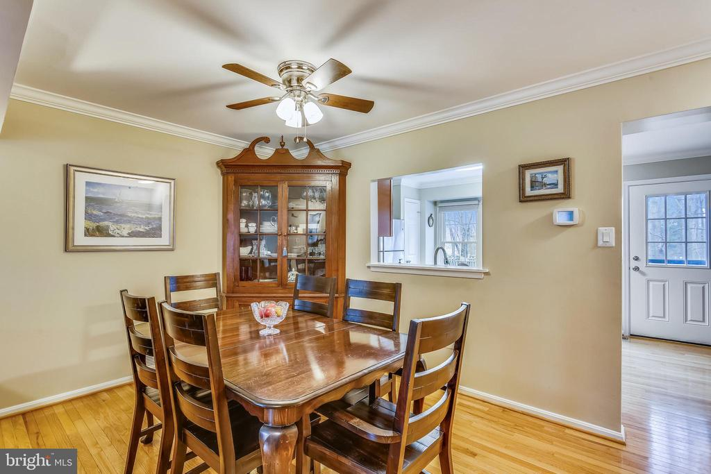 Dining room with pass-through to kitchen - 10828 DOUGLAS AVE, SILVER SPRING