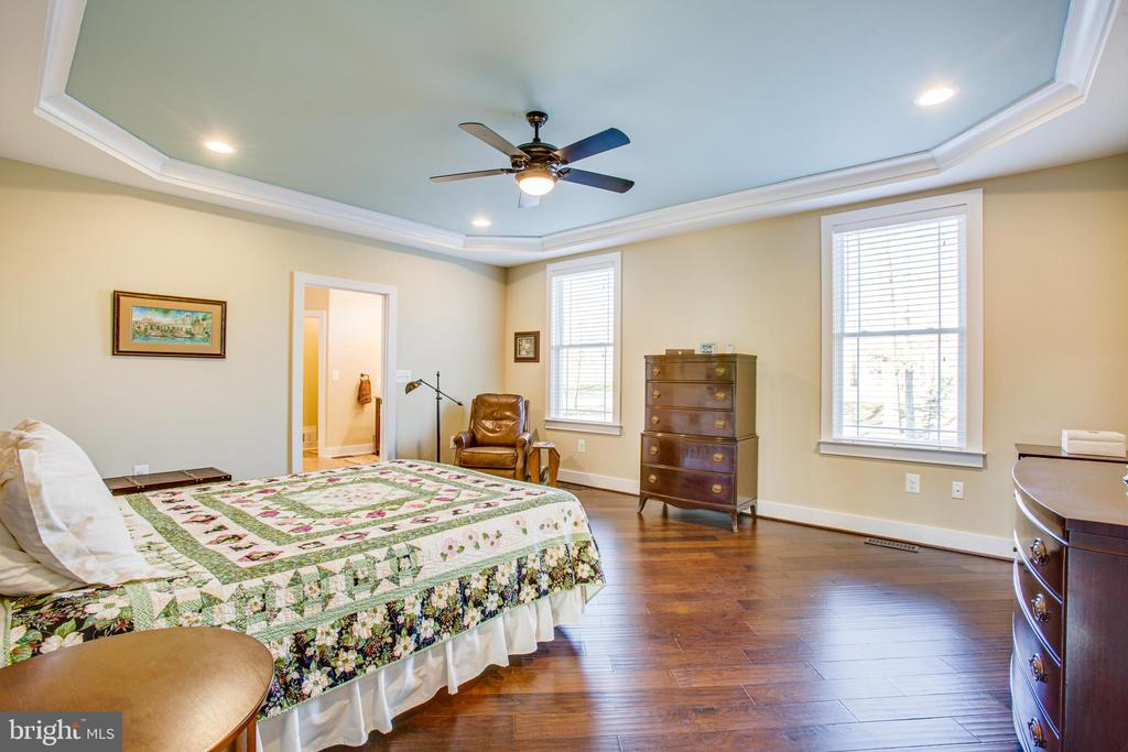 Spacious master bedroom with views of golf course - 208 LIMESTONE LN, LOCUST GROVE