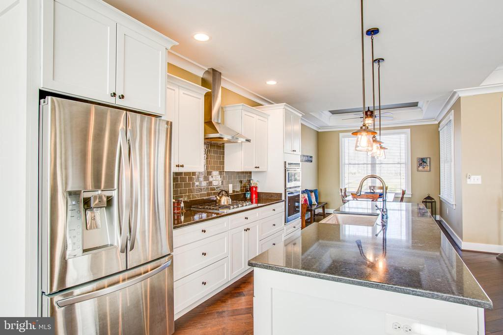 Kitchen with stainless appliances - 208 LIMESTONE LN, LOCUST GROVE